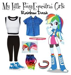 """Rainbow Dash•My little pony: Equestria girls"" by derpinathemonster on Polyvore"