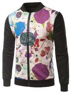 GET $50 NOW | Join RoseGal: Get YOUR $50 NOW!http://www.rosegal.com/mens-jackets/rib-insert-floral-printed-zip-753918.html?seid=6654463rg753918