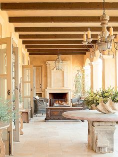 Private residence - California spa, Cal-a-Vie. Structural work by Michael Carbine of Mac Maison, Interior Design by Laurie Steichen.