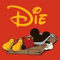 Oh Mickey - Unknown graphic designer. Humour Disney, Funny Disney, Mundo Dos Games, Nerd, Dark Disney, Twisted Disney, Bd Comics, Cultura Pop, Secret Life