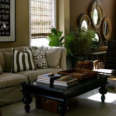 20 Best Tan and Black Living Rooms images | Living room ...