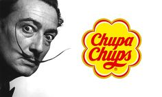 Salvador Dali / Chupa Chups  The Chupa Chups logo was designed by Salvador Dali. The work took the Spanish artist just an hour to complete. The colors come from the Spanish flag.