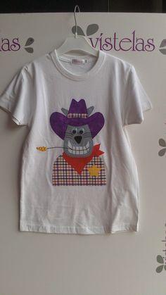 VISTELAS. Camiseta GATO SHERIFF