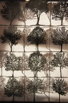 paper trees for forest - impact of lighting on paper.