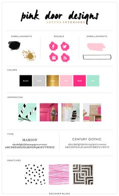 Featured Design: Pink Door Designs   DesignerBlogs.com Design by Erika S. #branding #blog #design