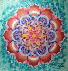 Knot Lotus Mandala by Maria Ho