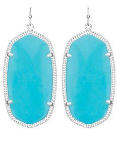 Danielle Silver Earrings in Turquoise - Kendra Scott Jewelry.