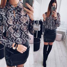 2018 nieuwe stijl mode vrouwen sexy chiffon blouses casual snake skin gedrukt shirts dames losse tops