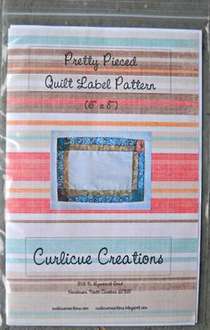 Pretty Pieced Quilt Label Pattern
