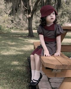 1940s inspired Toddler dress and hat set gray and by TeenyBunny, $125.00. Would look awesome on my Violet