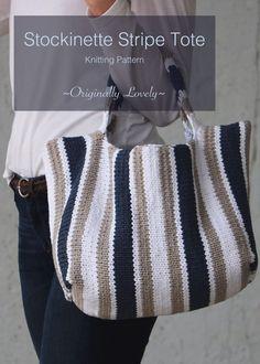 Free Knitting Pattern | Stockinette Stripe Tote | Originally Lovely
