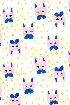 Frenchie painterly pattern. French bulldog illustration