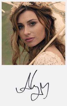 Aly Michalka  #autograph #fanart