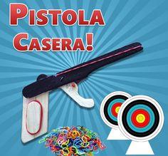 Como Hacer una Mini Pistola Casera Dispara Ligas | Proyectatumente