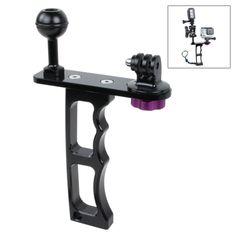 [$15.87] TMC Single Handheld Diving Light Arm Aluminum Mount with Lanyard for GoPro HERO4 Session /4 /3+ /3 /2 /1, Xiaoyi Camera(Black)