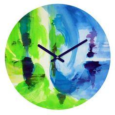 DENY Designs Laura Treve Shot Of Lime Clock S