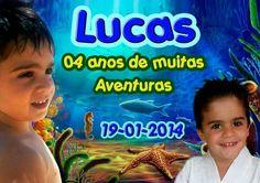 Ímã de geladeira do Lucas - 4 anos