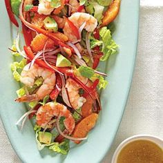 Marinated Shrimp Salad with Avocado | MyRecipes.com ; Enjoy shrimp in a salad with this easy, fresh recipe. Drizzle with Citrus Vinaigrette for the perfect punch of flavor