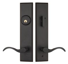 Rockwell Verano Entrance Door Handle set with Chelsea lever in Oil Rubbed Bronze finish
