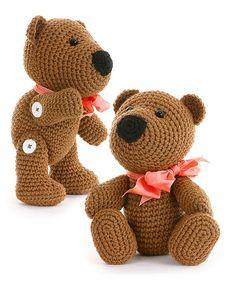 Thursday Handmade Love week 66 Theme: Teddy Bears Includes links to #free #crochet patterns  Crochet Madison Teddy Bear pdf Pattern via Etsy