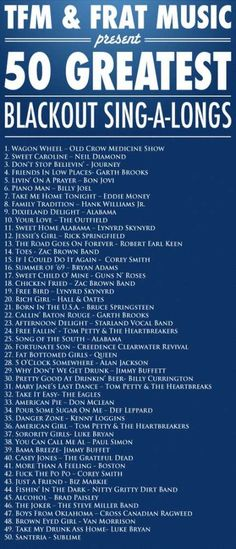 I know it says Frat music, but would be a great in car/traveling playlist haha who could resist singing then?