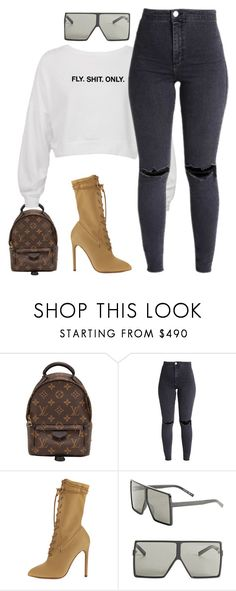 """Untitled #2652"" by flyyshitonly ❤ liked on Polyvore featuring Louis Vuitton and Yves Saint Laurent"