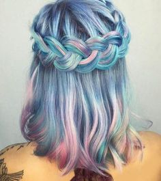 Mermaid Hair All Day! #mermaid #mermaidhair #hairinspiration