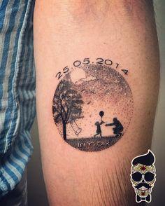 Minimal tattoo, dotwork tattoo
