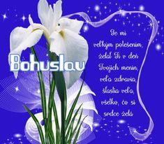 Bohuslav  Je mi veľkým potešením, želať Ti v deň Tvojich menín, veľa zdravia, šťastia veľa, všetko, čo si srdce želá