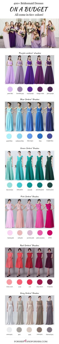 Individual bridal tips you have not heard about prior to … – The World Bridesmaid Dress Colors, Wedding Bridesmaid Dresses, Wedding Attire, Wedding Gowns, Prom Dresses, Purple Wedding, Wedding Colors, Dream Wedding, Fall Wedding
