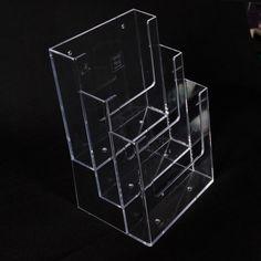 EXPOSITOR TRES NIVELES - Expositor de poliestireno de tres niveles completamente transparente. Varias medidas. Acrylic Box, Retail, Neon Signs, Display, Display Stands, See Through, Diy, Floor Space, Billboard