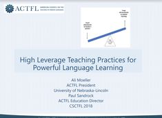 Moeller & Sandrock - High Leverage Teaching Practices for Powerful Language Learning. Education Director, Spanish Classroom, Foreign Languages, Student Learning, Alexandria, Esl, Nebraska, Milwaukee, Lincoln