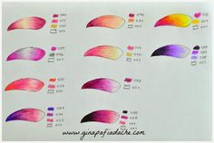 Atelier Gina Pafiadache: Suggested colors for coloring books! Colored Pencil Tutorial, Colored Pencil Techniques, Colouring Techniques, Art Techniques, Copics, Prismacolor, Coloring Tips, Coloring Tutorial, Polychromos