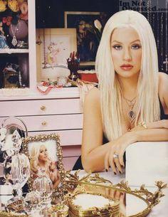 "Christina Aguilera has an amazing closet inside a stunning vivid color bedroom, it's no wonder that she calls it ""Wonderland""."