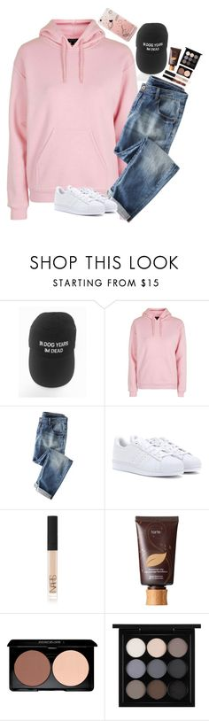 """""""/ Baby we don't have to rush you could leave a toothbrush at my place \"""" by graciegirl2015 ❤ liked on Polyvore featuring Topshop, adidas, NARS Cosmetics, tarte and MAC Cosmetics"""