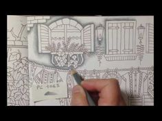 ROMANTIC COUNTRY The third tale - part 1 - prismacolor pencils - YouTube