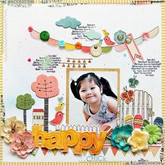 Fabulous scrapbooking layout inspiration created using our Neighborhood Collection #cratepaper