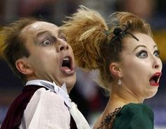 In honor of the Olympics kicking off tonight...28  Funny Figure Skating Faces...