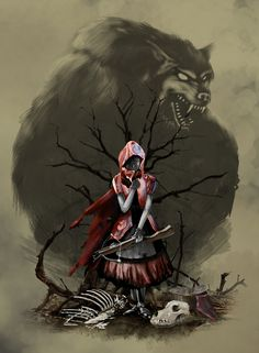 Little Red Riding Hood by DaakSM.deviantart.com on @deviantART