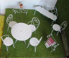 Miniature-Breakfast Nook-Counter-Table-Bar-Horse Stools Set ...