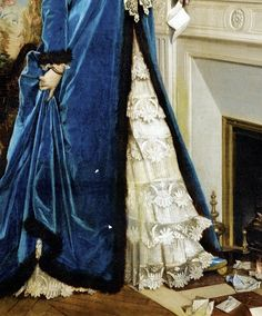 """""""The Letter"""" (1874) (detail) by Auguste Toulmouche (1829-1890)."""