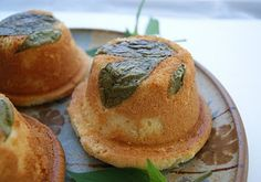 Little pound cakes topped with fresh pineapple sage. Eat your herbs! Pound Cakes, Pound Cake Recipes, Bread Recipes, Sweets Recipes, Cupcake Recipes, Sage Recipes, Pineapple Sage, Delicious Deserts, Eat Dessert First