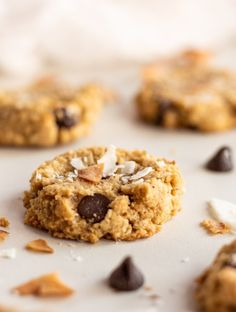 Almond Coconut Chocolate Chip Cookies - Cinnamon and Toast Gluten Free Almond Cookies, Coconut Chocolate Chip Cookies, Gluten Free Desserts, Dessert Recipes, Chocolate Chips, Chocolate Ganache, Magic Custard Cake, Square Cake Pans, Cloud Bread