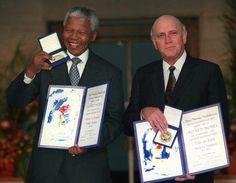 Nelson Mandela and F.W. de Klerk Nobel Peace Prize 1993.