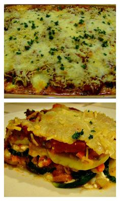 "Vegetable Lasagna with Spinach ""Noodles"" 