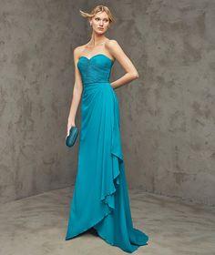 Freya -  Vestido de festa comprido, decote em coração