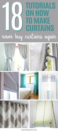 18 Tutorials On How To Make Curtains