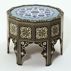 Tile-top table - side view | V&A