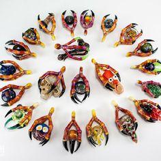 Burtoni x -Various - Shaq man, Rob Morrison, Mr Gray, Warlock, Joe P, Coyle, Ryno, Stok  borosilicate glass pendants heady