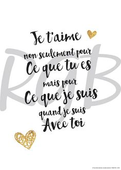 Valentine's Day Quotes : QUOTATION - Image : Quotes Of the day - Description Affiche papier citation et texte d'amour The Words, Best Quotes, Love Quotes, Inspirational Quotes, Text Poster, Love One Another Quotes, Quotes Distance, I Love You, My Love